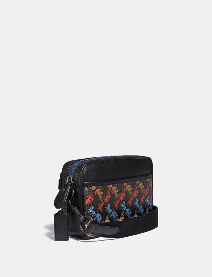 Coach Academy Crossbody With Horse and Carriage Print Black Copper/Chalk Men Bags Messenger Bags Alternate View 1