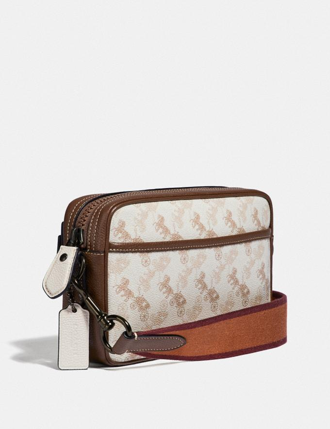 Coach Academy Crossbody With Horse and Carriage Print Black Copper/Chalk New Men's New Arrivals Bags Alternate View 1