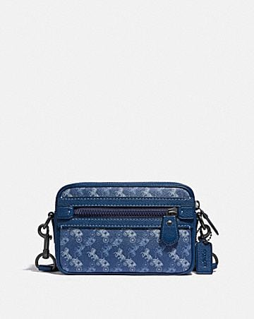 academy crossbody with horse and carriage print