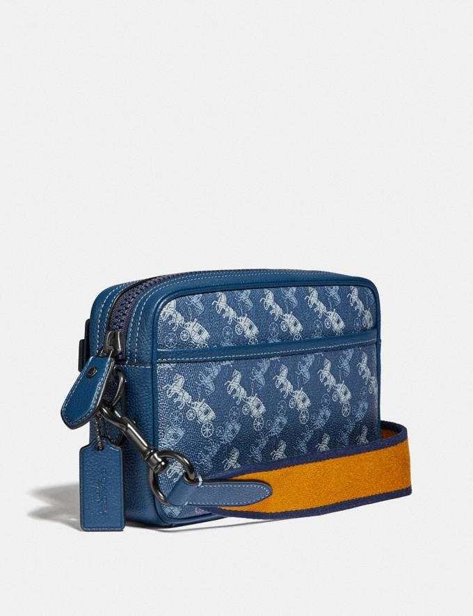 Coach Academy Crossbody With Horse and Carriage Print Black Copper/True Blue Gifts For Him Under $300 Alternate View 1