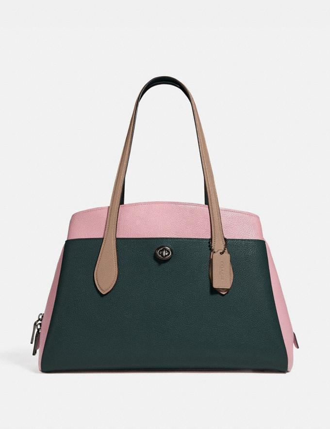 Coach Lora Carryall in Colorblock Pewter/Pine Green Aurora Multi New Featured Women New Top Picks