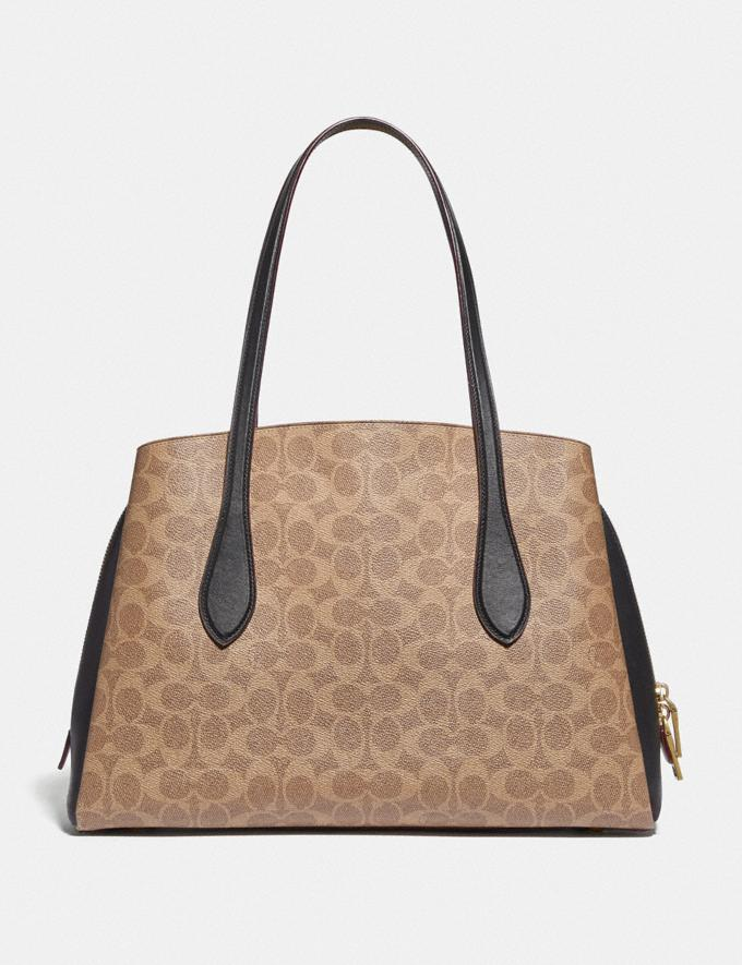 Coach Lora Carryall in Colorblock Signature Canvas Brass/Tan Rust Women Collection Lora Alternate View 2