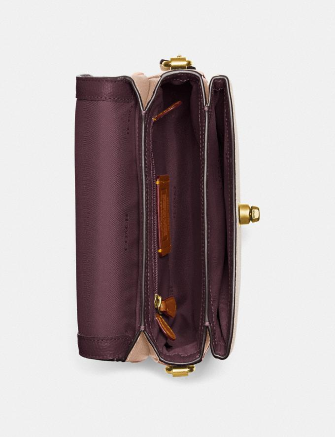 Coach Cassie Crossbody 19 in Colorblock Brass/Taupe Granite Multi Women Bags Crossbody Bags Alternate View 3