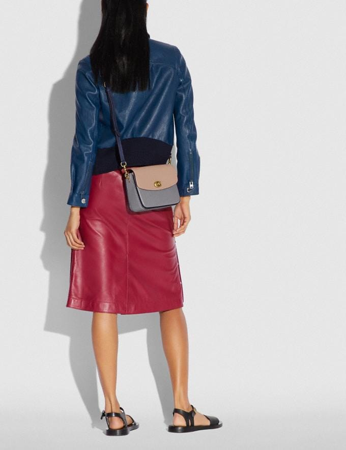 Coach Cassie Crossbody 19 in Colorblock Brass/Taupe Granite Multi Women Bags Crossbody Bags Alternate View 5