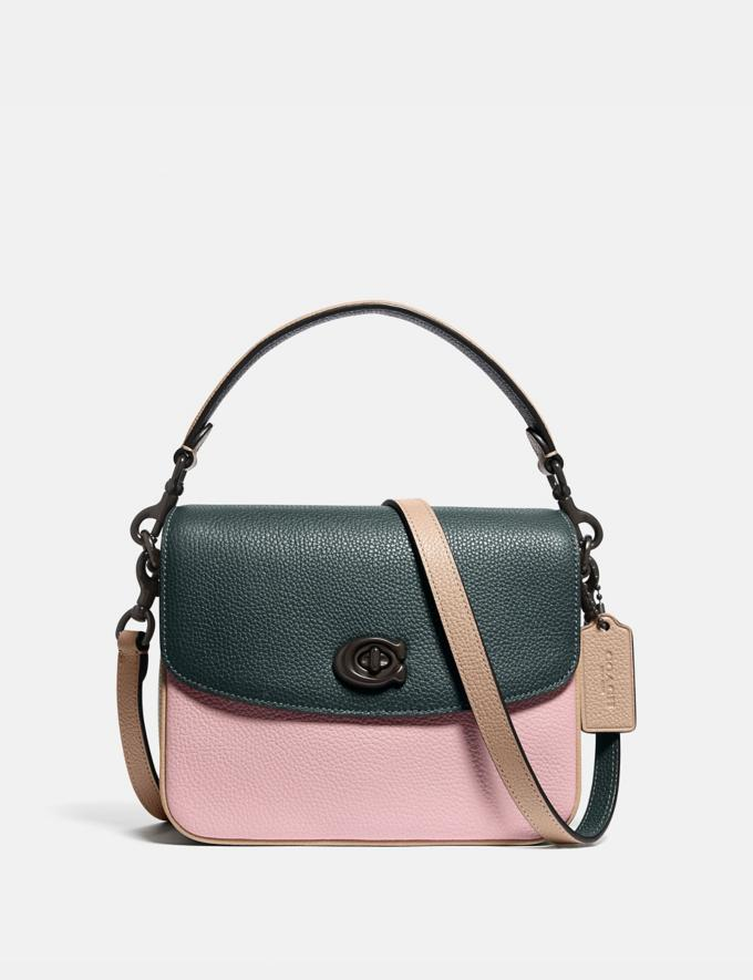 Coach Cassie Crossbody 19 in Colorblock Pewter/Pine Green Aurora Multi Women Bags Crossbody Bags