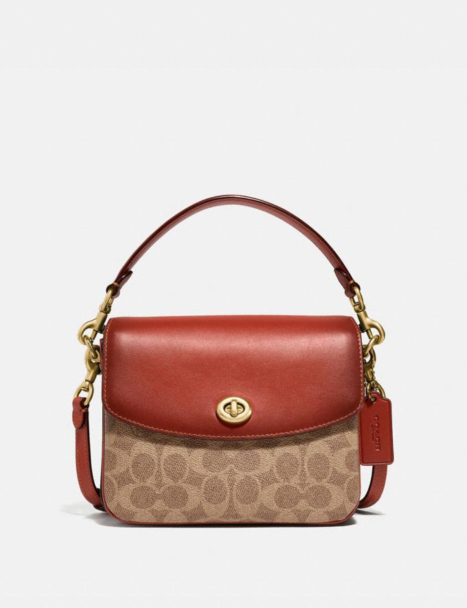Coach Cassie Crossbody 19 in Signature Canvas Brass/Tan Rust New Featured Signature Styles