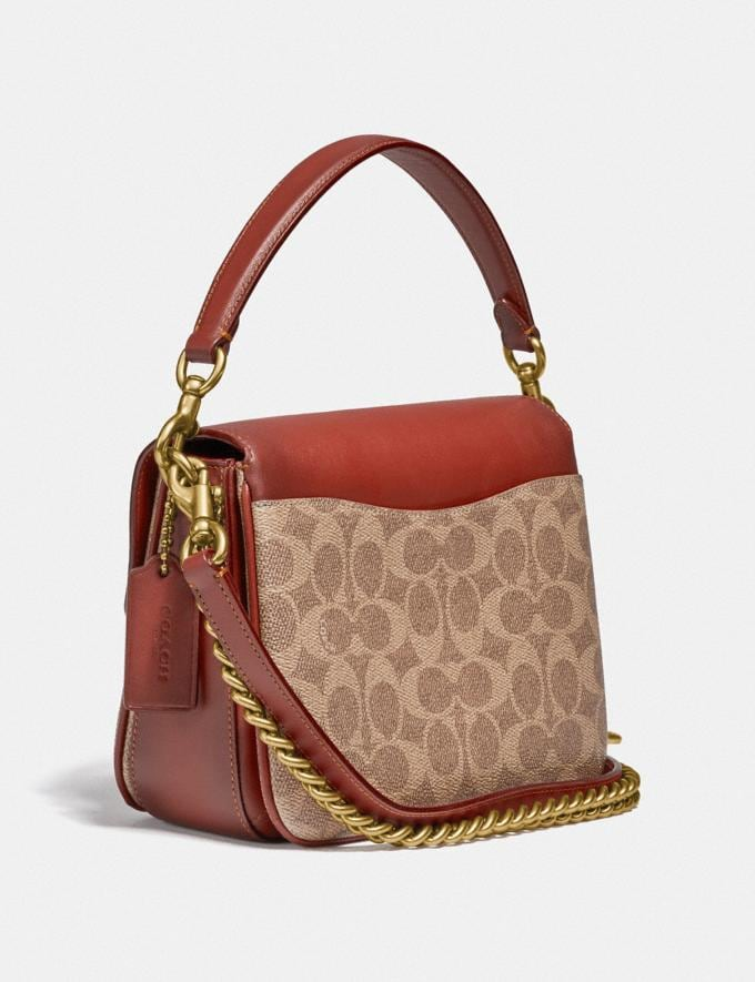 Coach Cassie Crossbody 19 in Signature Canvas Brass/Tan Rust New Featured Signature Styles Alternate View 1
