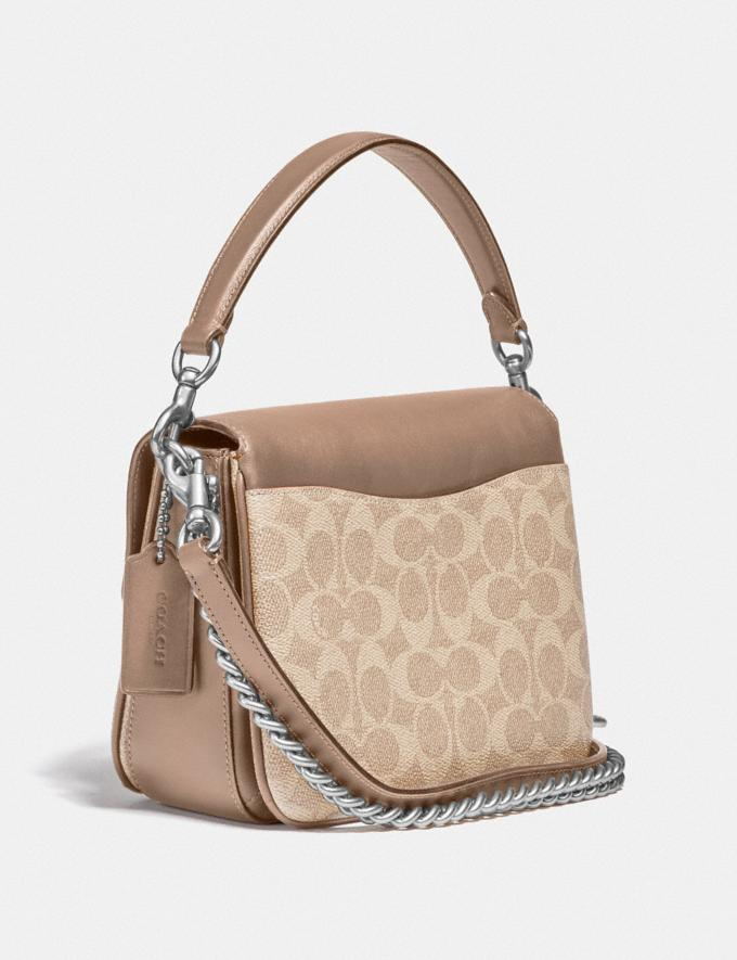 Coach Cassie Crossbody 19 in Signature Canvas Light Nickel/Sand Taupe Women Edits Weekend Alternate View 1