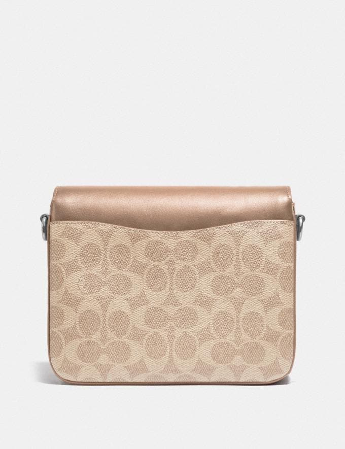 Coach Cassie Crossbody 19 in Signature Canvas Light Nickel/Sand Taupe Women Edits Weekend Alternate View 2
