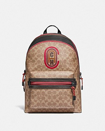 academy backpack in signature canvas with coach patch