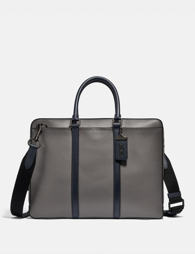 Coach Metropolitan Slim Brief Black Copper/Heather Grey/Midnight Navy Gifts For Him Bestsellers
