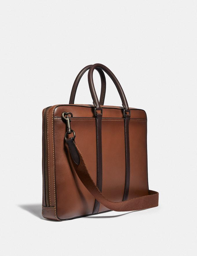 Coach Metropolitan Slim Brief Black Copper/Saddle/Oak PRIVATE SALE Men's Sale Bags Alternate View 1