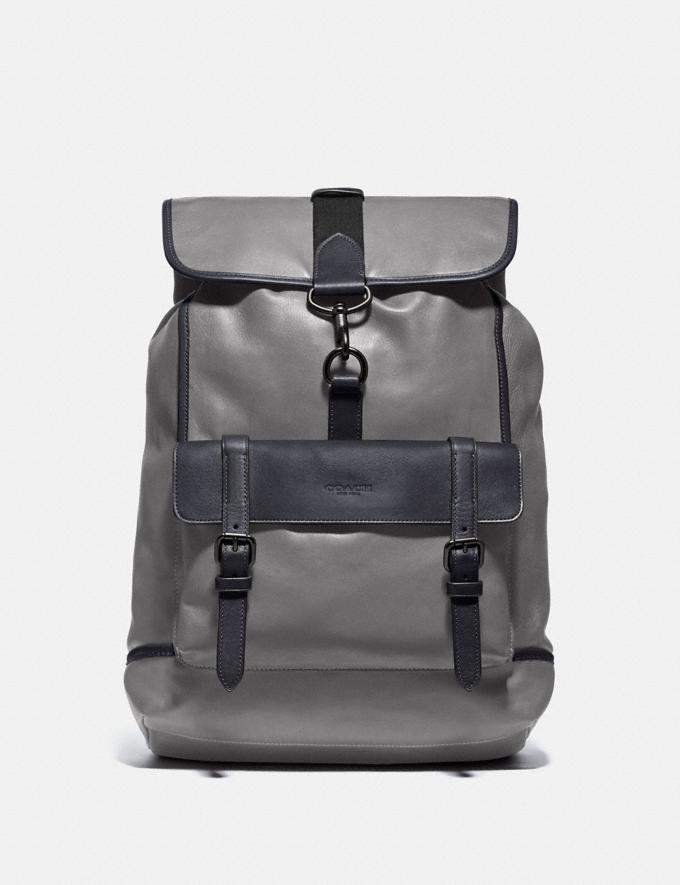Coach Bleecker Backpack Black Copper/Heather Grey/Midnight Navy New Men's New Arrivals View All