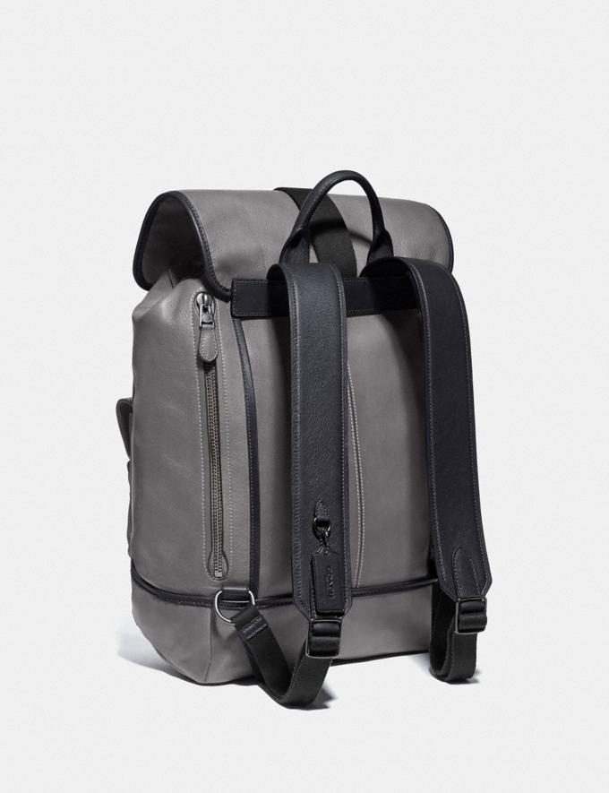 Coach Bleecker Backpack Black Copper/Heather Grey/Midnight Navy New Men's New Arrivals View All Alternate View 1