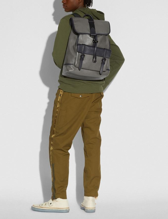 Coach Bleecker Backpack Black Copper/Heather Grey/Midnight Navy New Men's New Arrivals View All Alternate View 3