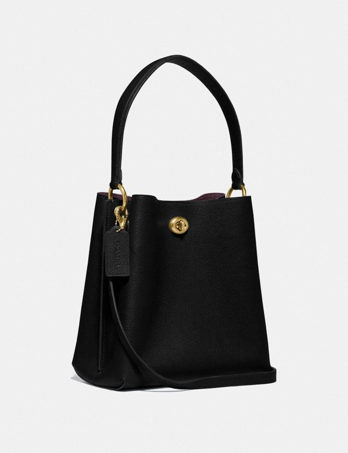 Coach Charlie Bucket Bag 21 Brass/Black Gifts For Her Alternate View 1