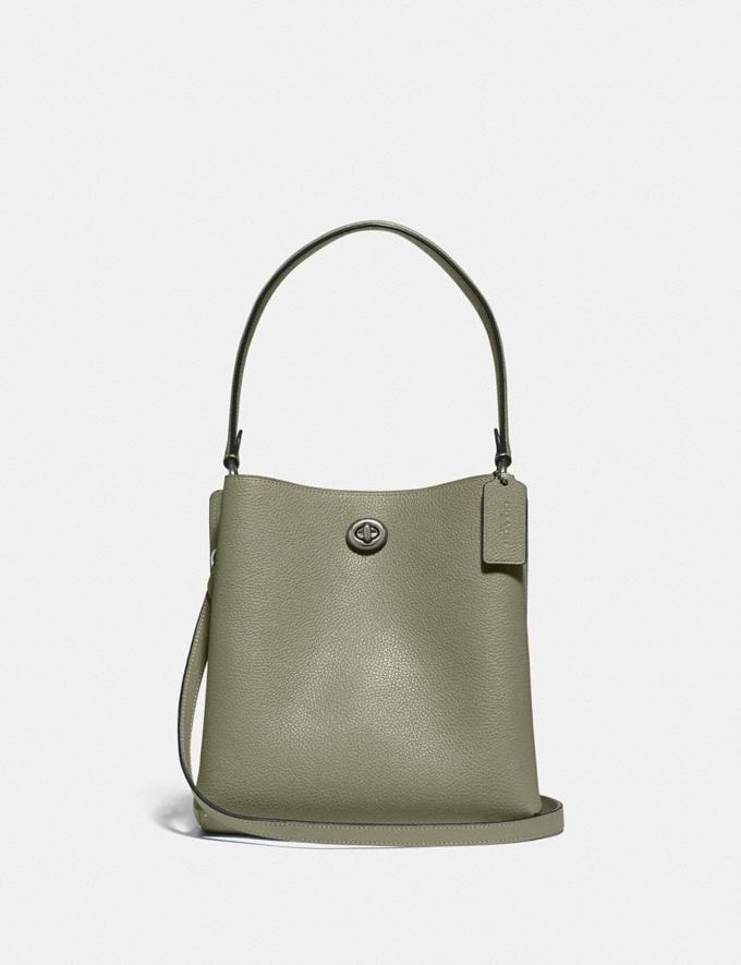 Coach Charlie Bucket Bag 21 V5/Light Fern Women Bags Satchels