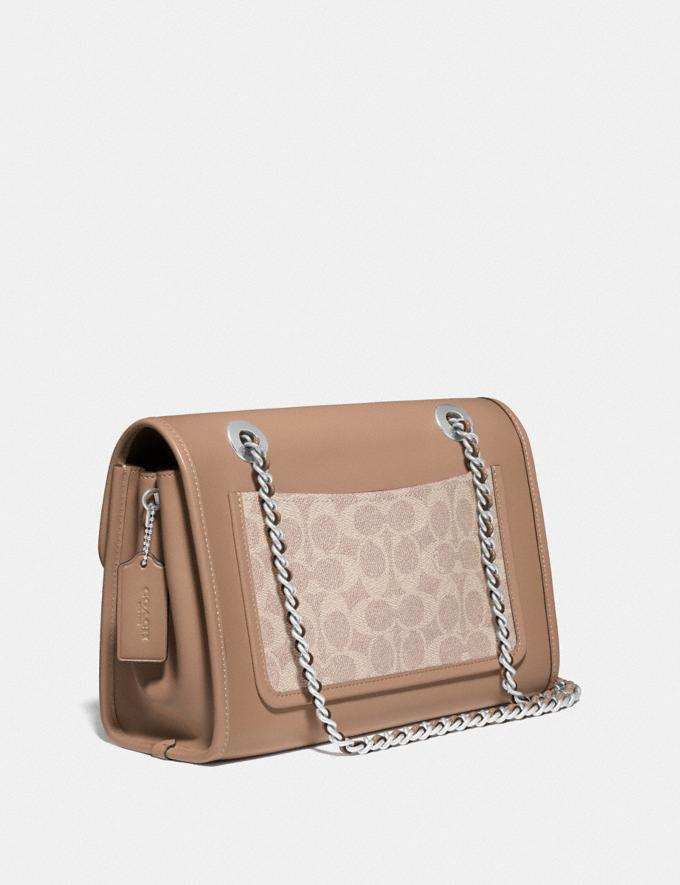 Coach Parker With Signature Canvas Light Nickel/Sand Taupe Gifts For Her Under $500 Alternate View 1