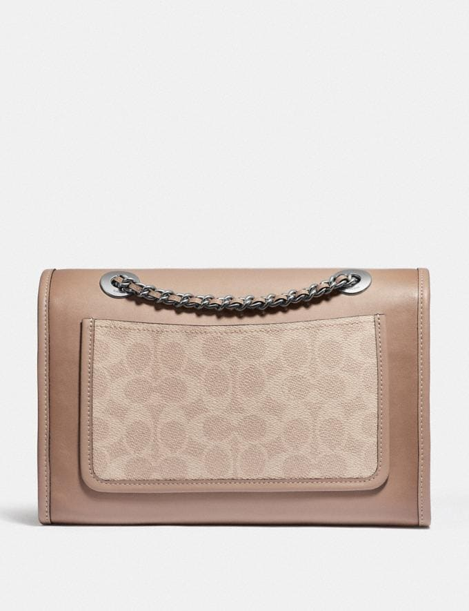 Coach Parker With Signature Canvas Light Nickel/Sand Taupe Gifts For Her Under $500 Alternate View 2