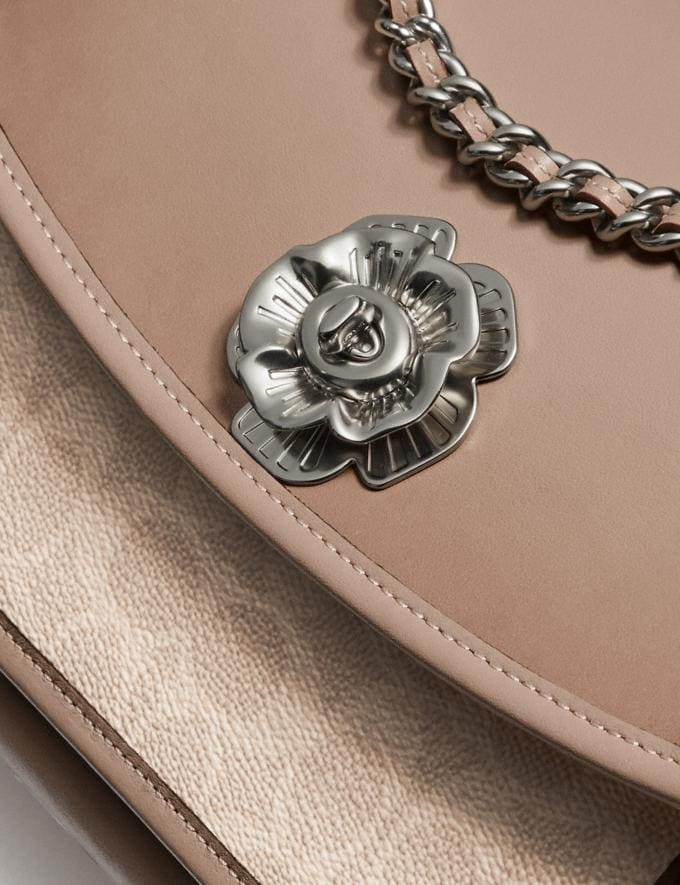 Coach Parker With Signature Canvas Light Nickel/Sand Taupe Gifts For Her Under $500 Alternate View 6