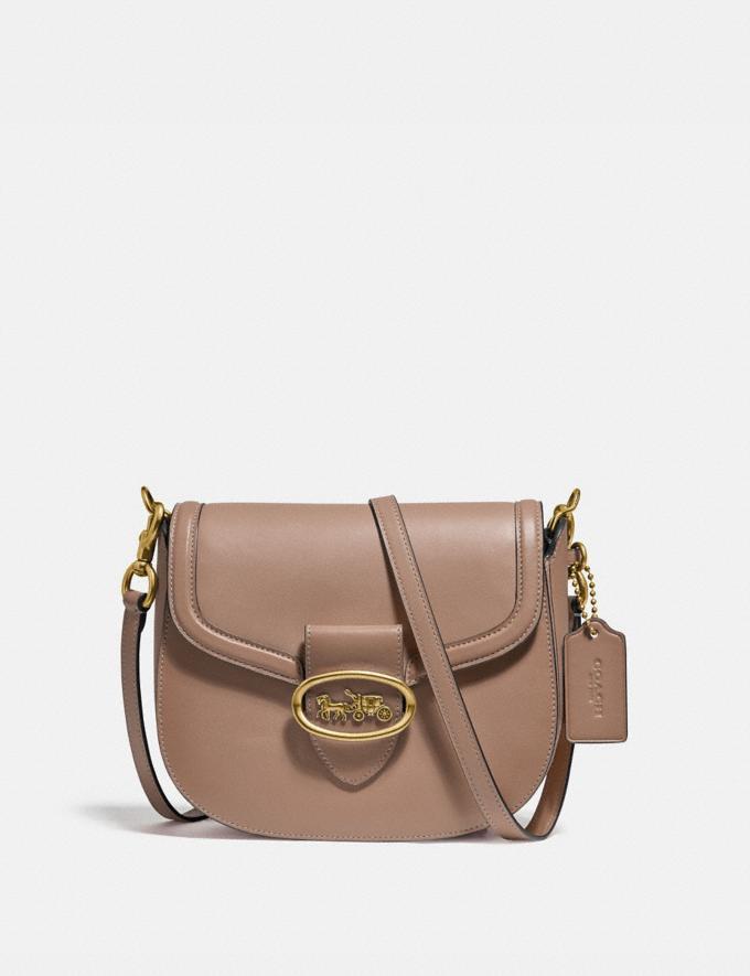 Coach Kat Saddle Bag 20 B4/Taupe Women Bags Crossbody Bags