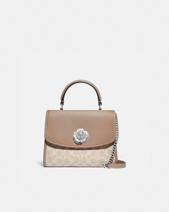 Coach PARKER TOP HANDLE IN SIGNATURE CANVAS