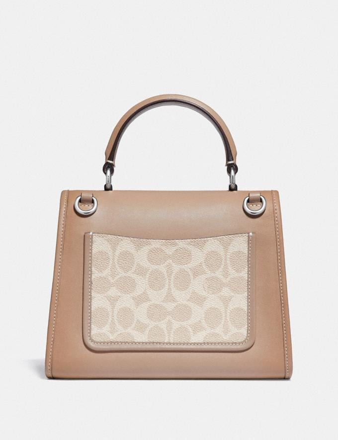 Coach Parker Top Handle in Signature Canvas Light Nickel/Sand Taupe New Women's New Arrivals Alternate View 2