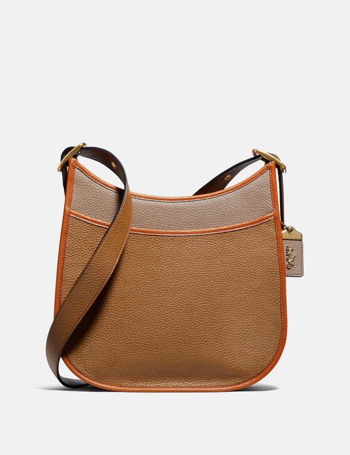 Coach Emery Crossbody in Colorblock Brass/Light Saddle Elm Women Handbags Crossbody Bags
