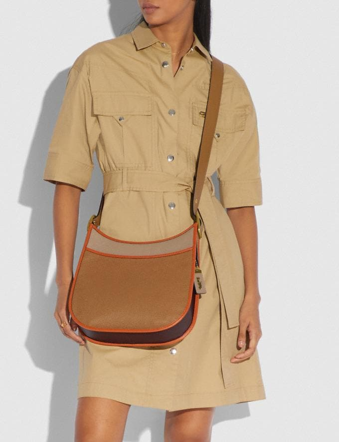 Coach Emery Crossbody in Colorblock Brass/Light Saddle Elm Women Handbags Crossbody Bags Alternate View 4