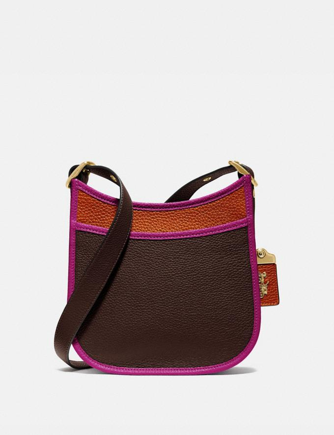 Coach Emery Crossbody 21 in Colorblock Brass/Dark Teak Multi