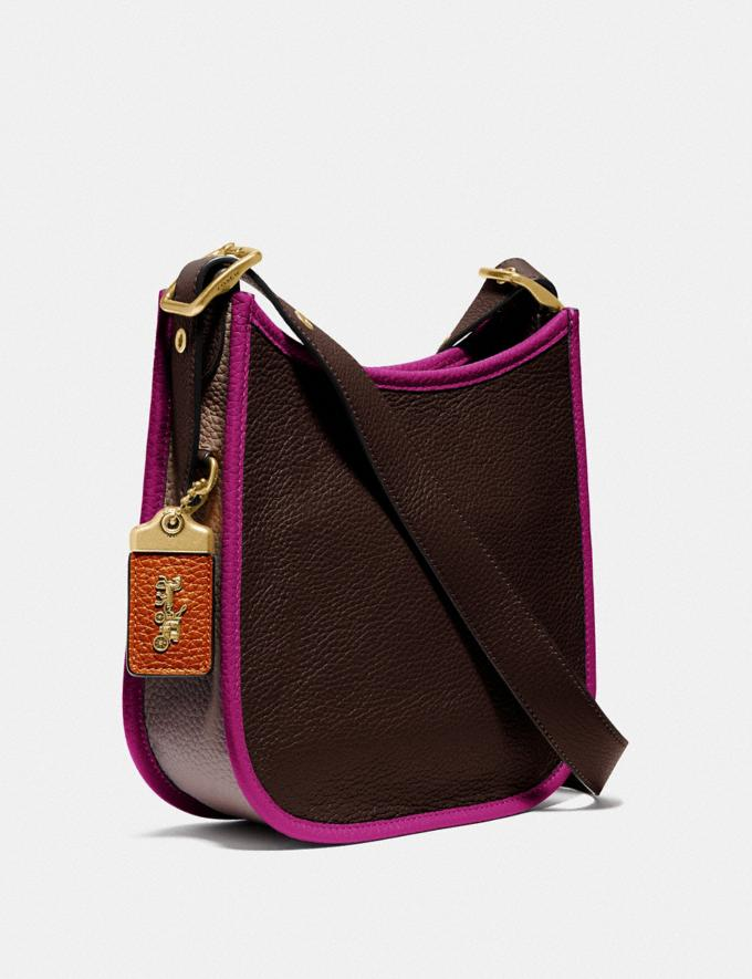 Coach Emery Crossbody 21 in Colorblock Brass/Dark Teak Multi  Alternate View 1
