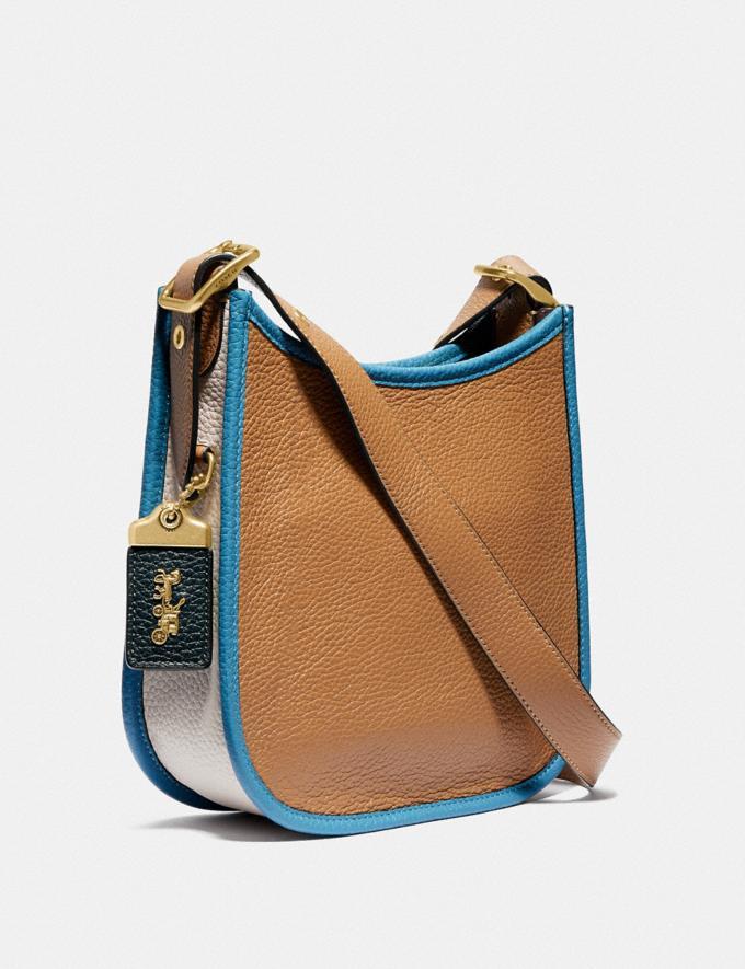 Coach Emery Crossbody 21 in Colorblock Brass/Light Saddle/Pine Green Women Handbags Crossbody Bags Alternate View 1