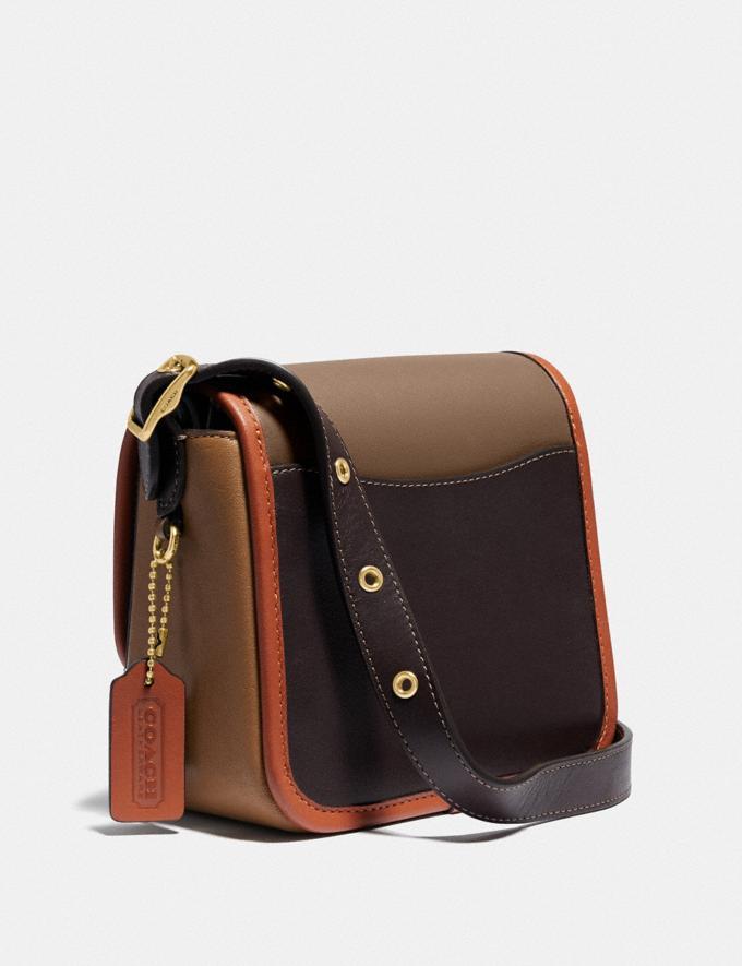Coach Rambler Crossbody 16 in Colorblock Brass/Elm Multi PRIVATE SALE Women's Sale Bags Alternate View 1
