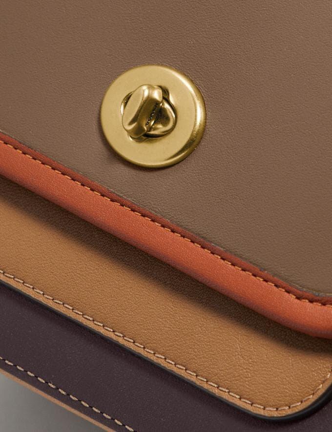 Coach Rambler Crossbody 16 in Colorblock Brass/Elm Multi PRIVATE SALE Women's Sale Bags Alternate View 6