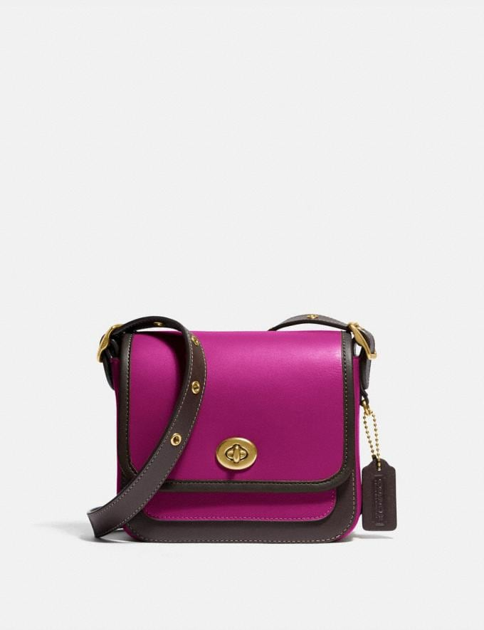 Coach Rambler Crossbody 16 in Colorblock B4/Hibiscus Multi New Featured Coach X Jennifer Lopez