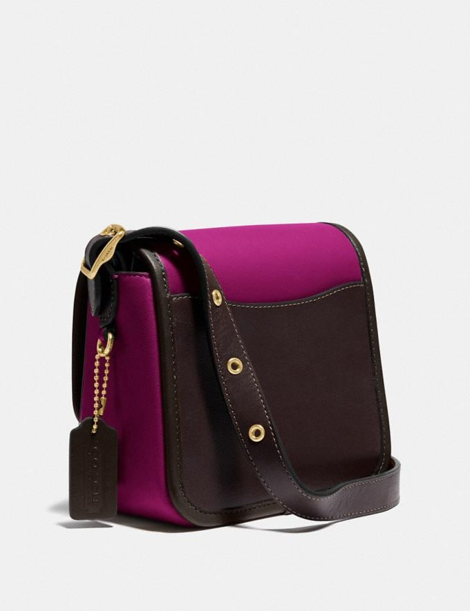 Coach Rambler Crossbody 16 in Colorblock B4/Hibiscus Multi New Featured Coach X Jennifer Lopez Alternate View 1