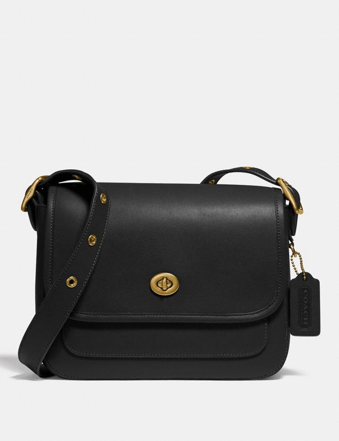 Coach Rambler Crossbody Brass/Black New Women's New Arrivals Collection