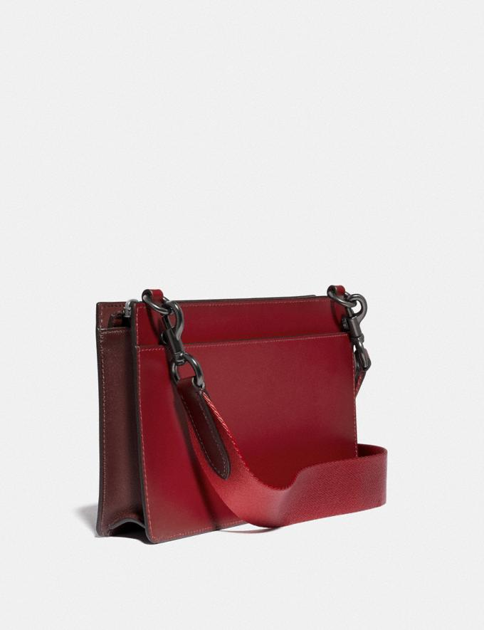 Coach Rivington Convertible Pouch in Colorblock Wine/Dark Cardinal Women Small Leather Goods Wristlets Alternate View 1