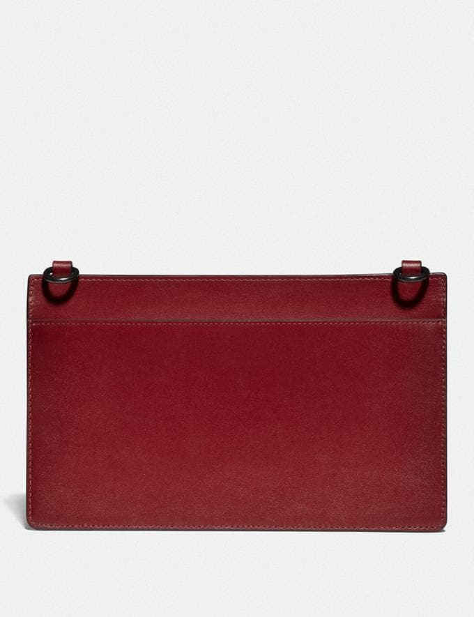 Coach Rivington Convertible Pouch in Colorblock Wine/Dark Cardinal Men Accessories Tech & Travel Alternate View 2