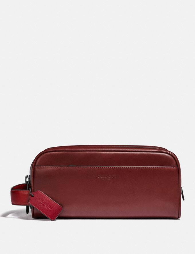 Coach Travel Kit in Colorblock Dark Cardinal/Wine