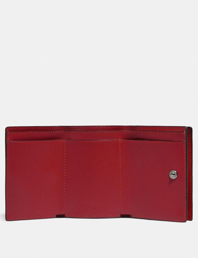Coach Origami Coin Wallet in Colorblock Dark Cardinal/Wine Men Wallets Billfolds Alternate View 1