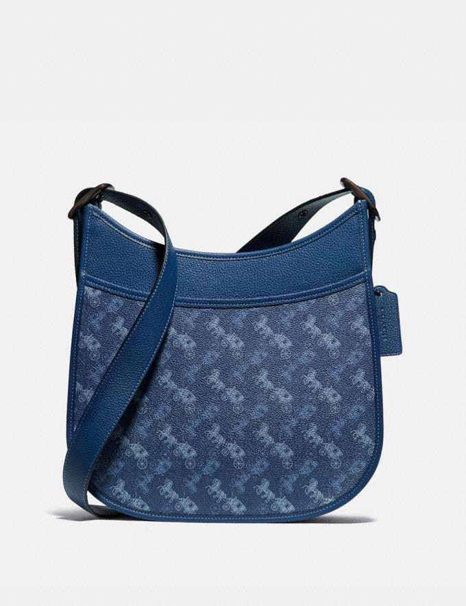 Coach Emery Crossbody With Horse and Carriage Print V5/Blue True Blue Women Bags Crossbody Bags