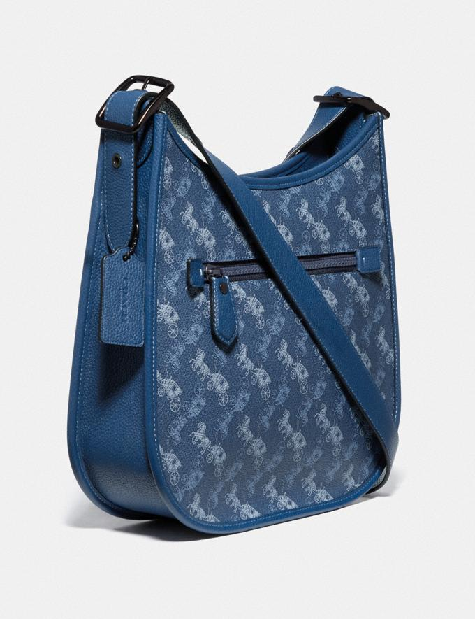 Coach Emery Crossbody With Horse and Carriage Print V5/Blue True Blue Women Bags Crossbody Bags Alternate View 1
