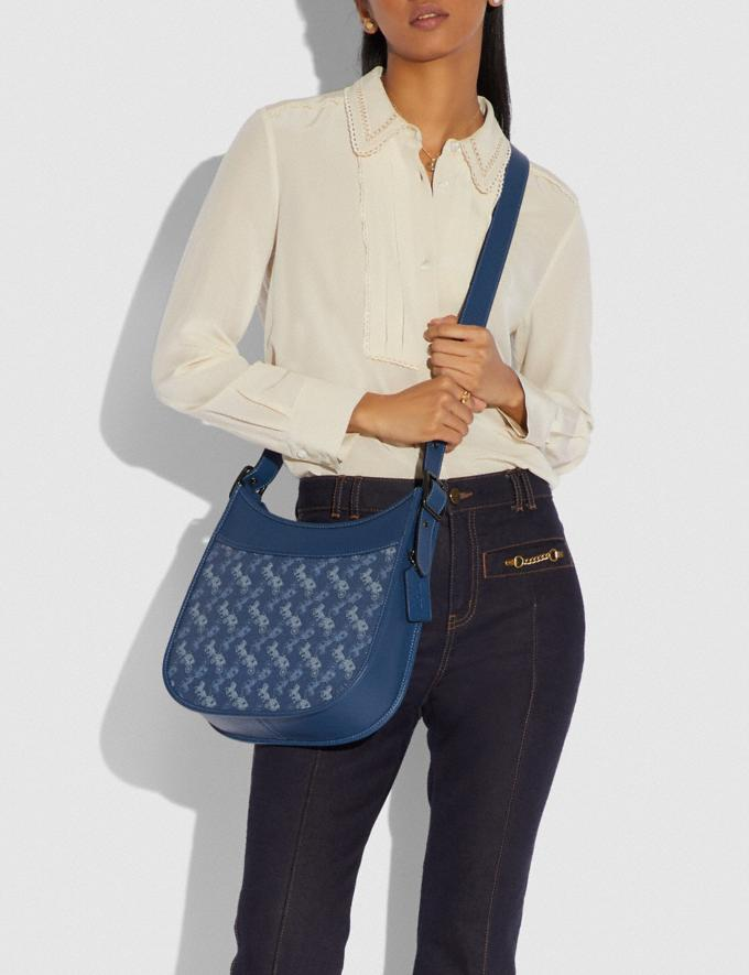 Coach Emery Crossbody With Horse and Carriage Print V5/Blue True Blue Women Bags Crossbody Bags Alternate View 4