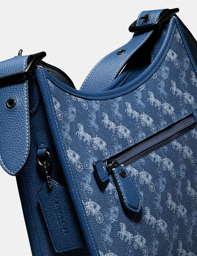 Coach Emery Crossbody With Horse and Carriage Print V5/Blue True Blue Women Bags Crossbody Bags Alternate View 5