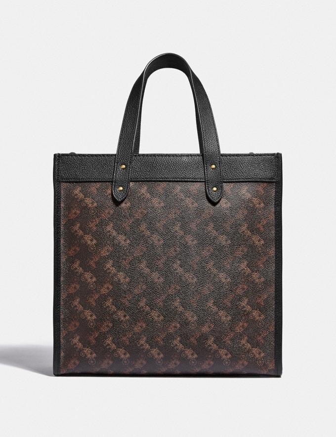 Coach Field Tote With Horse and Carriage Print B4/Truffle Black Women Bags Totes Alternate View 2