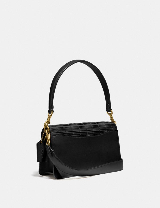 Coach Tabby Shoulder Bag 26 With Pleating Brass/Black Women Collection Tabby Alternate View 1