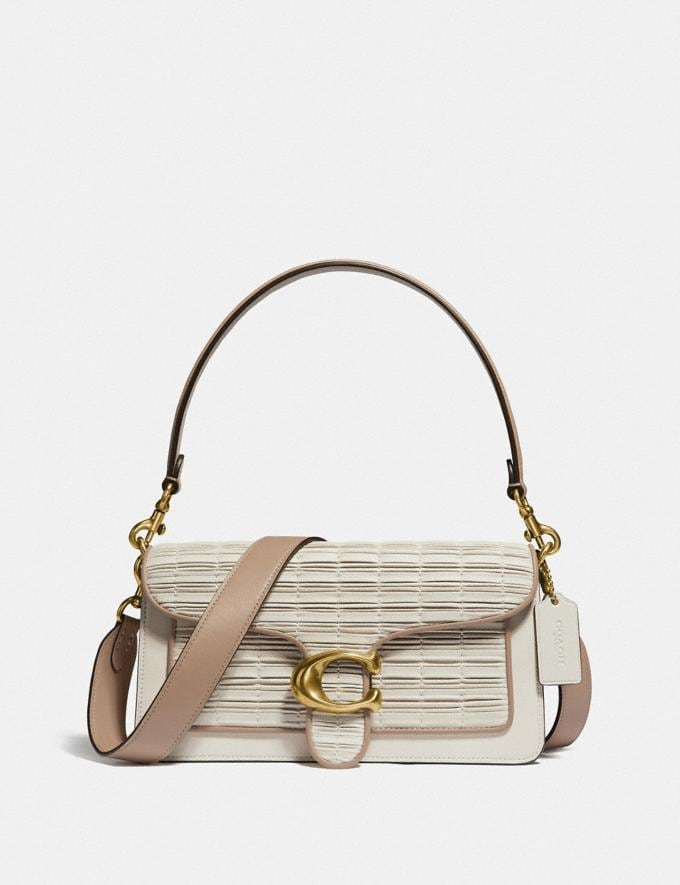 Coach Tabby Shoulder Bag 26 With Pleating Brass/Chalk