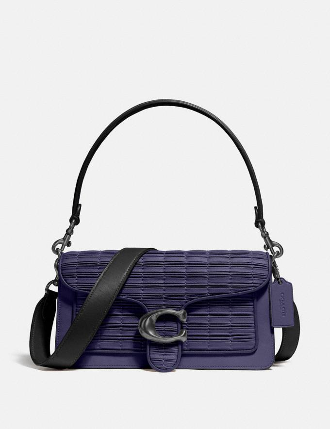 Coach Tabby Shoulder Bag 26 With Pleating V5/Cadet/Black Women Collection Tabby