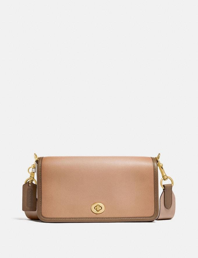 Coach Dinky in Colorblock Brass/Chalk Multi